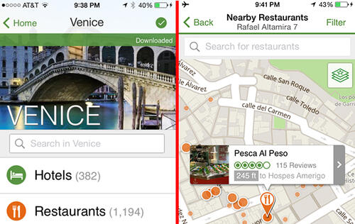 TripAdvisor App Now Offers Offline Functionality