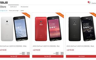 ASUS Launches Online Store in Singapore, Sells ZenFone 5 at A Promotional Price
