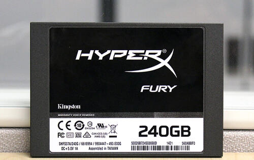 Kingston HyperX Fury 240GB sounds furious, but only in name