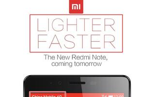 Xiaomi teases lighter and faster Redmi Note with 4G, announcement in a few hours