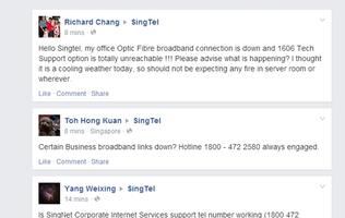 SingTel's broadband service down for its business users?