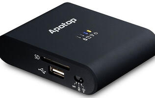 The Apotop Wi-Copy is a wireless router, power bank, and storage device all rolled into one