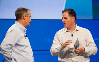 Michael Dell teases world's thinnest Atom-based tablet with 3D camera at IDF