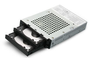 Raidon's new InTank iR2770 internal RAID module lets you put two drives in RAID 0 or 1 easily