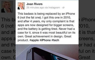 Joan Rivers promotes iPhone 6 from beyond the grave