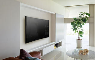Sony's S9000B 4K TV has a very gentle curvature designed for individual viewing