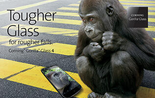 Corning's Gorilla Glass 4 is twice as tough as competitive glasses