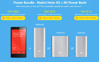 PSA: Xiaomi's 16,000mAh power bank is available in Malaysia as part of a Redmi Note 4G bundle