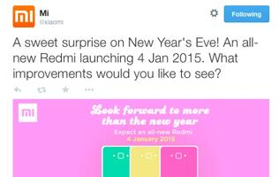 Xiaomi to launch new Redmi 1S with dual-4G SIM card slots on January 4?