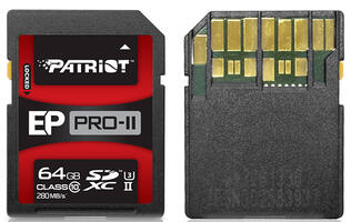 Patriot announces new UHS-II EP PRO-II SDXC card
