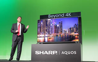 Sharp has a 4K TV that it says is like an 8K TV