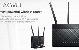 Firmware update brings new features to ASUS' RT-AC68U router