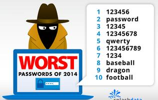 """123456"" and ""password"" top list as worst passwords"