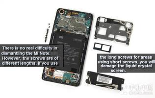 Xiaomi Mi Note surprisingly easy to disassemble in teardown