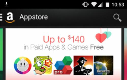 Limited time offer: Download US$140 worth of apps from Amazon Appstore for free