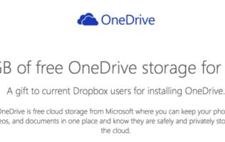 Microsoft is offering 100GB free OneDrive storage for one year to Dropbox users