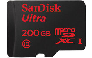 SanDisk unveils new 200GB microSD card