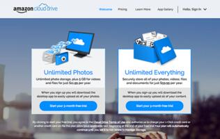 Amazon now offers unlimited cloud storage for just US$59.99 per year