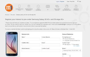 Singtel and Starhub registration of interest for Samsung Galaxy S6 and S6 Edge now live (Update: M1 now live)