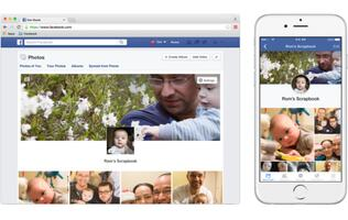 Facebook's new Scrapbook feature makes it easy to organize your child's photos