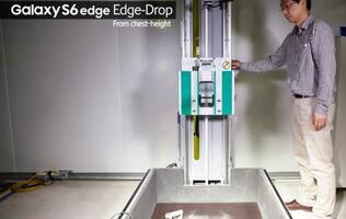 Samsung releases video of drop tests for Galaxy S6 models to prove their durability
