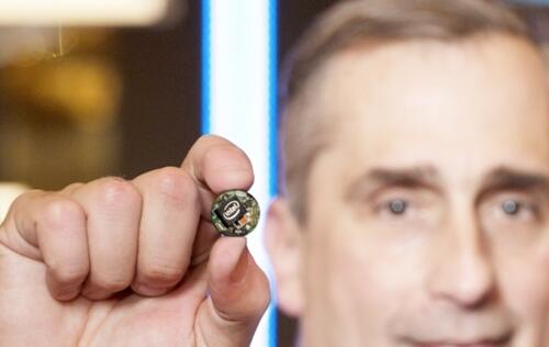 Intel CEO shows off Quark-based Intel Curie wristband at IDF Shenzhen 2015