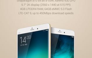 Xiaomi Mi Note Pro available in China on May 6, to launch in new champagne gold finish