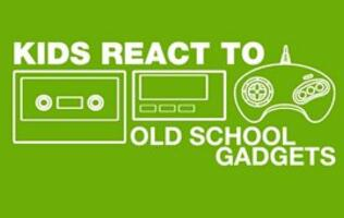 Kids react to old school gadgets
