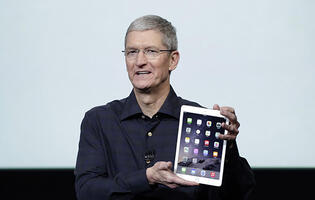 Apple CEO still upbeat about iPad despite dwindling sales