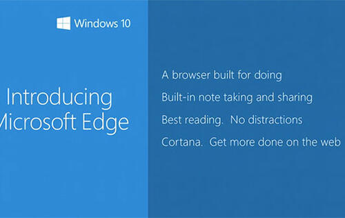 Microsoft Edge is the name of Microsoft's new browser in Windows 10