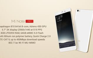 Xiaomi launches Mi Note Pro, will go on sale in China next week