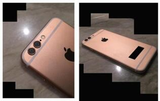 Rose gold Apple iPhone 6S with dual-lens camera leaked