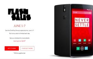 OnePlus announces flash sale this week, OnePlus One starts from US$249