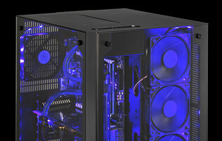 Lian Li's new PC-08 case features two compartments and tempered glass panels