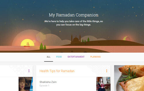 Google launches 'My Ramadan Companion' to help Muslims during the month of fasting