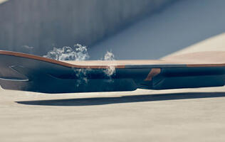 Lexus unveils its hoverboard and it's literally smoking