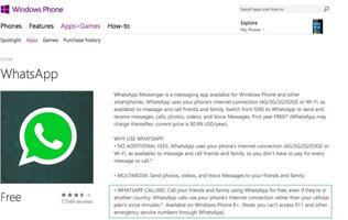 WhatsApp voice-calling feature finally available for Windows Phone users