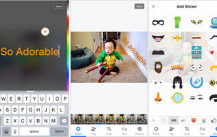 Facebook testing Snapchat-inspired photo uploader that includes swipe-able filters and text