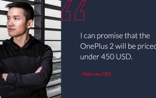 OnePlus 2 confirmed to be priced below US$450