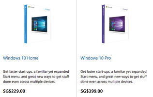 Microsoft reveals Windows 10 local pricing