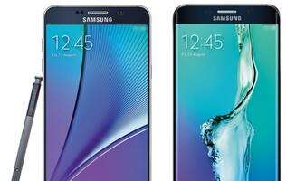 Alleged press image of Samsung Galaxy Note 5 and Galaxy S6 edge+ leaked