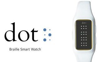 The Dot is a smartwatch that's meant for the visually impaired