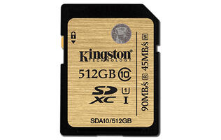 Kingston announces 512GB Class 10 SDHC/SDXC memory card