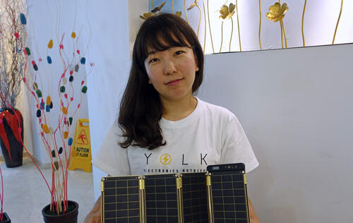 Hands on with the Solar Paper, portable solar charger for personal devices