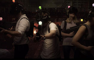Mow down the undead horde in this new 400 square meter virtual reality arena