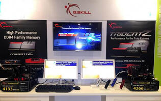 G.Skill demos high-speed Trident Z DDR4 4266MHz and 4133MHz kits at IDF 2015