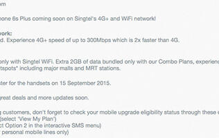 PSA: You can pre-register for the iPhone 6S and 6S Plus with Singtel on September 15