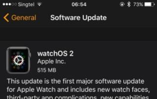 Apple's watchOS 2 is now available for download