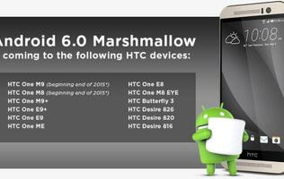 HTC reveals Android 6.0 Marshmallow roll-out schedule for its smartphones