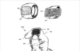 Apple files patent for ring-style wearable with display, cameras and sensors